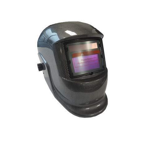DWT-GERMANY 100752 Automatik Schweißhelm Schweißschirm Carbon Design Schweißmaske Solar Schweißbrille Schweißschild Automatikhelm