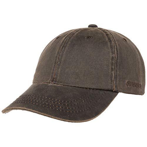 Stetson Statesboro Old Cotton Cap Herren - Baseballcap mit UV-Schutz 40+ - Mütze mit Baumwolle in Vintage Lederoptik - Basecap Frühjahr/Sommer braun L/XL (58-61 cm)