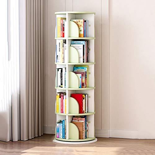 Estanterías para CD DVD Estante de almacenamiento de CD Librería para niños, Soporte de exhibición de disco CD giratorio de 360 °, Estantería de 3/4/5 capas, Ps4 DVD Holder ( Size : 54*54*183cm )