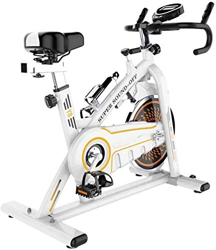 Zhihao Spinning Bike, Indoor Cycling Heimtrainer mit Monitor-Herzfrequenz-Sensoren, 11 kg Schwung Professioneller Indoor Cycle Fitness Einstellbarer Widerstand Lenker Seat, Bearing 150kg