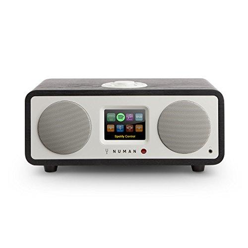 NUMAN One 2.1 - Radio por Internet, Sintonizador Dab/Dab+ y FM, Spotify Connect, Pantalla TFT, WiFi/LAN, Bluetooth, AUX, 2 Altavoces de Banda Ancha, Subwoofer, 2 ecualizadores, Negro