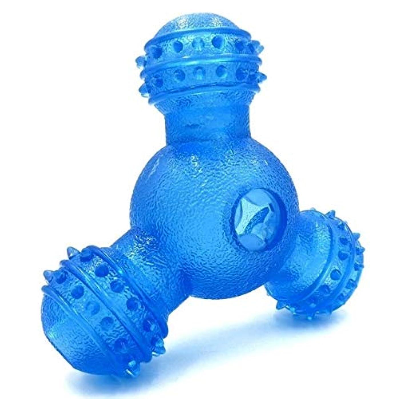 過激派流すラックSHUITOU 犬のおもちゃゴム漏れ食品ボールフィーダの犬ペットトレーニングエクササイズボウルクリーニング歯のおもちゃペットのおもちゃを再生 (Color : Blue, Size : M)