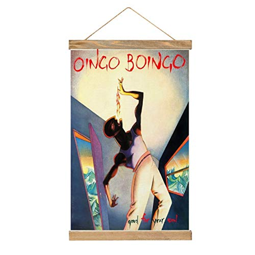 MJNHBG Oingo Boingo Canvas Poster Hanging Painting Wall Art Hippie Tapestry Indoor Decor for Home Dorm Office