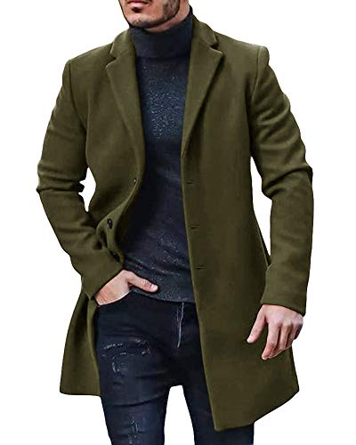 Mens Green Wool Coat