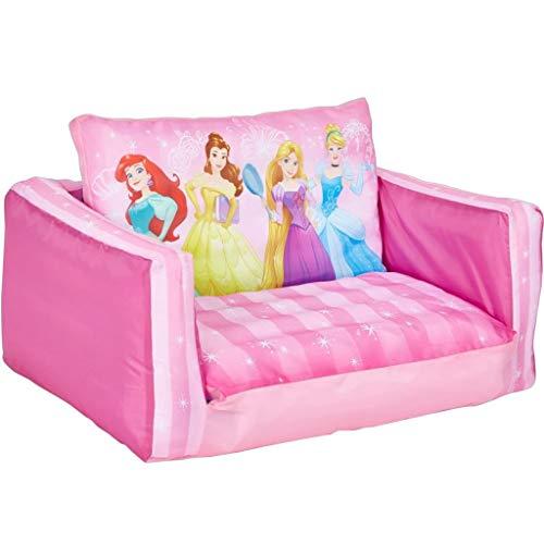 Disney Prinzessin - Ausziehbares Minisofa – Aufblasbares Sofa und Liegestuhl (2-in-1)