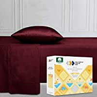 CHOOSE 100% PURE COTTON SHEETS OVER CHEAP MICROFIBER - There is a reason why luxury hotels use 100% cotton sheets and not microfiber. Our durable 400 thread count pure cotton sheets are perfect weight, regulate body temperature, environmentally susta...