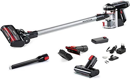 Genius Invictus X9 Lot de 14 aspirateurs sans fil avec mini brosse électrique, moteur BLDC haute performance, station de charge sans fil HEPA 25,2 V 360 W