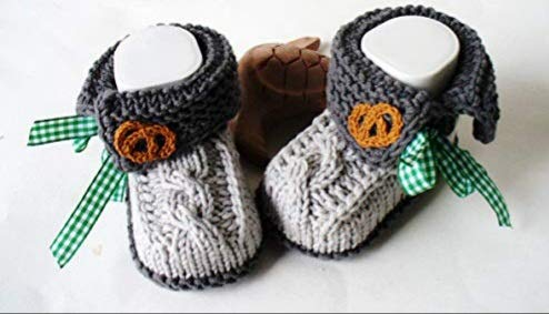 Babyschuhe Tracht Landhaus gestrickt handmade