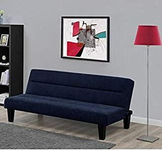 Dorel Home Products Kebo Futon Sofa Bed, Blue