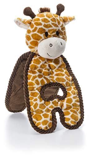 Charming Pet Cuddle Tugs Giraffe Plush Squeaky Dog Toy