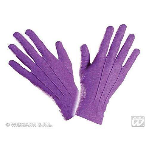 Lively Moments Kurze Handschuhe in Lila / Kostüm Zubehör für Clown, Exotische Frucht Oder Schmetterling