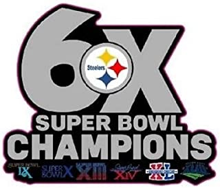 Steelers Champions PIN Superbowl 6X Champs PIN 2017-18 Super Bowl 52