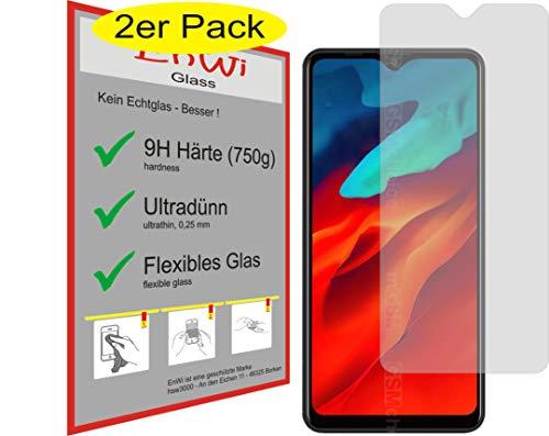 EnWi | 2X Panzer-Glas-Folie 9H Bildschirm-Schutz-Folie für Blackview A80 Pro