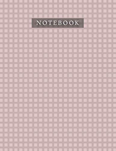 Notebook Rosy Brown Color Caro Horizontal Baby Elephant Pattern Background Cover: 8.5 x 11 inch, Journal, A4, Planner, 110 Pages