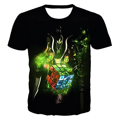 DREAMING-Camiseta de Manga Corta con Cuello Redondo Informal para Hombres y Mujeres de Verano, Camiseta de Manga Corta con impresión Digital 3D XXL
