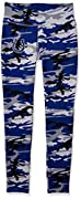 Officially licensed product of the National Football League Support your favorite team in these form-fitting women's leggings featuring a team color camo print with a high quality, screen printed logo on the top right hip. Show your spirit on gameday...