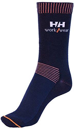 Helly Hansen Workwear 2 Paar Arbeitssocken Vaasa Socks, hochwertige Socken für hohe Belastung Gr. 36 - 39, rot, 75722