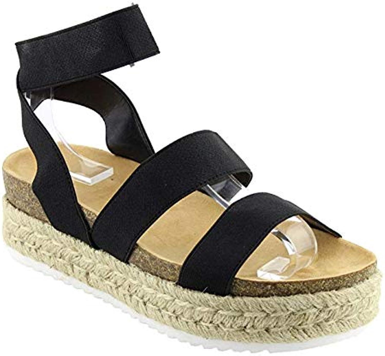 Nature Breeze Women's Casual Summer Spring Open Toe Espadrille Wedge Sandals