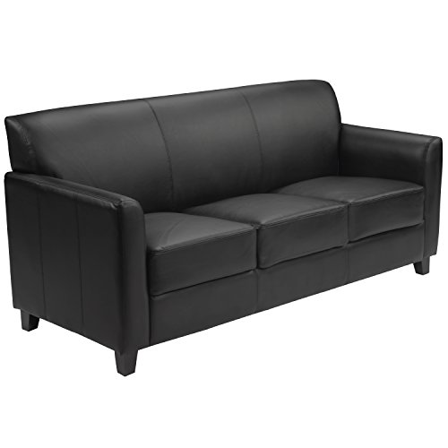 Flash Furniture HERCULES Diplomat Series Black LeatherSoft Sofa