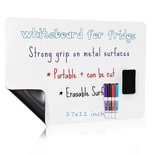 Magnetisches Whiteboard für Kühlschrank,43,2 x 27,9 cm, radierbar, Whiteboard-Aufkleber, trocken abwischbar, Whiteboard für Kühlschrank, Whiteboard Organizer