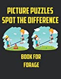 Picture Puzzles Spot The Difference Book For Forage: Fantastic Book For Fun , 30 Random Pictures