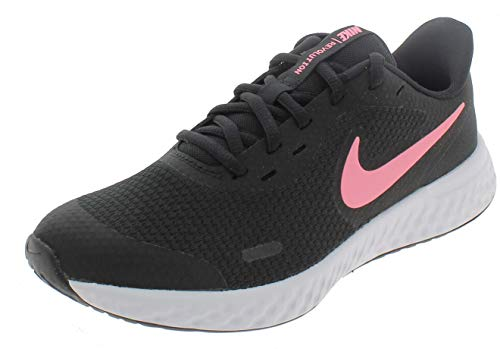 Nike Unisex-Kinder Revolution 5 (GS) Laufschuhe, Schwarz (Black/Sunset Pulse), 39 EU