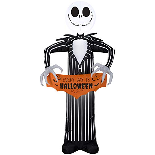 Standing Jack Skellington Blow Up Decoration with