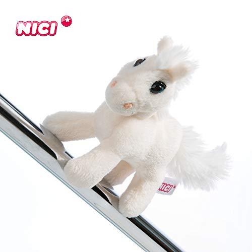 NICI Magnettier Pferd White Peach 10 cm – Magnet-Plüschtier Pferd – Kuscheltier mit Magnet – Stofftier Pferd White Peach – Magnettiere Plüsch NICI für Kühlschrank, Tafel, Metall – Magnet-Pferd – 44893