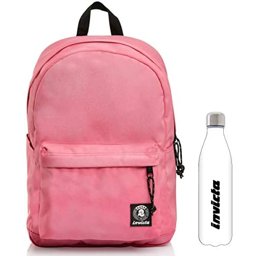 Zaino Carlson Washed Invicta Rosa + Borraccia bianca