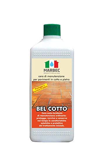 Marbec - Bel Cotto 1LT | Cera di Manutenzione Universale per Pavimenti in Cotto e Pietra