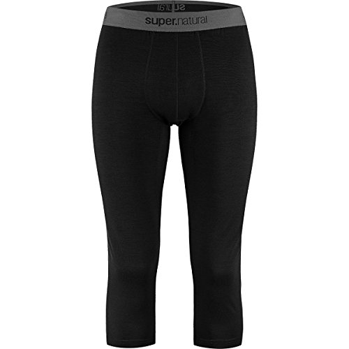 Super Natural Base 175 Collant 3/4 Homme Noir (Caviar) FR : XXL (Taille Fabricant : XXL)