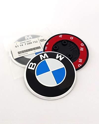 Emblem für BMW 82mm F20 F21 F22 F87 F23 F45 F46 F30 F80 F31 F32 F33 F34 F82 F83 F36 F52 Dachbox 320/420 / 520