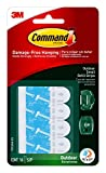 Command Outdoor Small Refill Replacement Strips, 16 Strips, Re-Hang Outdoor Window Hooks