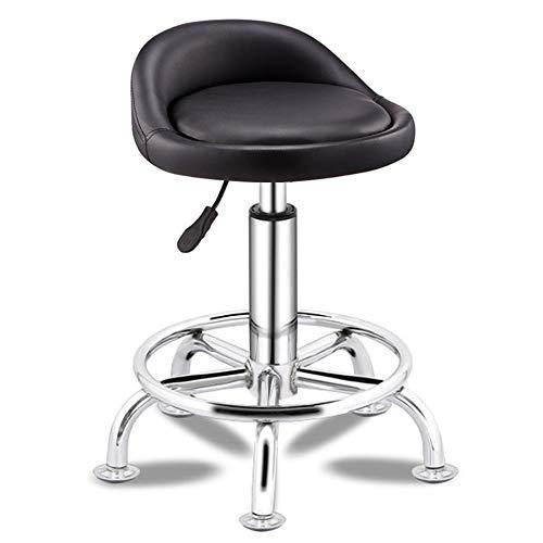 DLMPT Salon Fauteuil De Coiffure Pivotant Réglable Lift Tabouret À Roulette Rond Styling Chaise pour Bar, Manucure Tatouage Massage Beauté Spa Maquill