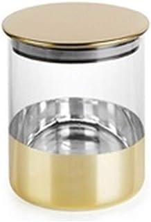 Pot en verre ménage rangement avec couvercle transparent Cuisine Conteneurs étanche à l'humidité des aliments Réservoir de...
