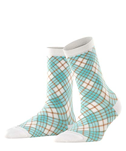 Burlington Damen Ladywell Rhomb W SO Socken, Weiß (White 2000), 36-41