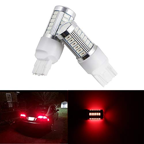 Dantoo 2pcs Extremely Bright T20 Bulb LED 7440 7441 7444 7443 Brake Light Bulbs 33 SMD Brilliant Red Tail Lights Stop Lamp Replacement with Projector Lens