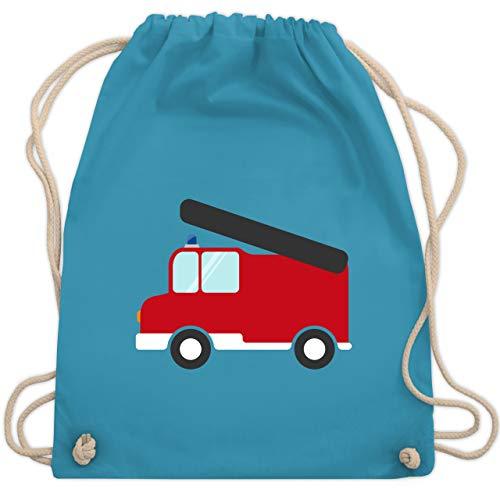 Shirtracer Feuerwehr Kind - Feuerwehr Auto - Unisize - Hellblau - turnbeutel feuerwehr - WM110 - Turnbeutel und Stoffbeutel aus Baumwolle