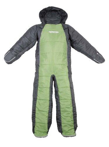 キャプテンスタッグ洗える人型シュラフグリーン×グレーUB-0008