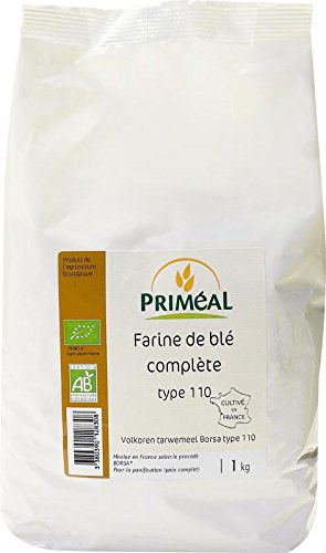 Priméal Farine de Blé Complète France T110 1 kg - Biologique