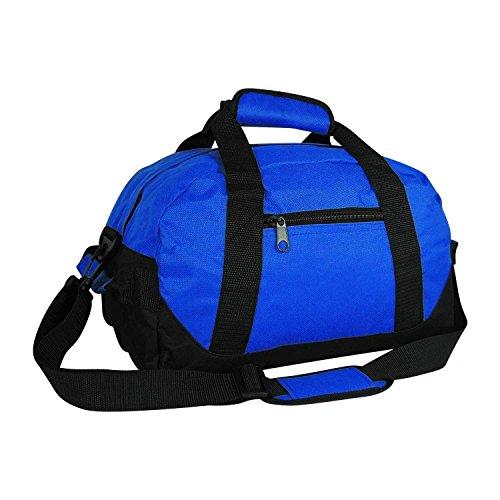 iEquip Duffle Bag, Gym, Travel Bag Two Tone (Royal - small (14' x 8.5' x 8.5'))