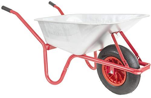 PRO-BAU-TEC 10192 Schubkarre I Bauschubkarre mit 100 Litern Volumen I Gartenkarre mit kugelgelagertem Luftrad I 160 kg maximale Tragkraft