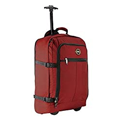 red cabin max trolley backpack with handle and wheels