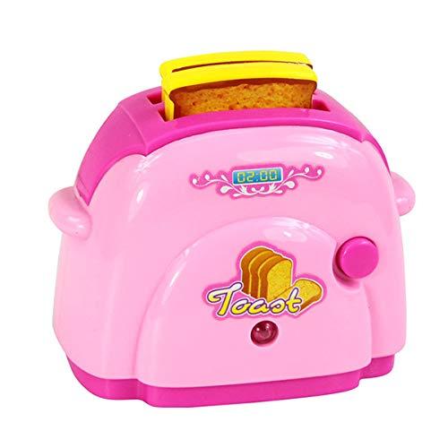 ruoyu Niños pretenden Jugar Juguetes de Cocina Pink electrodomésticos tostadora aspiradora Cocina juicer mezcladora Juguete para niñas Juguetes Panificadora