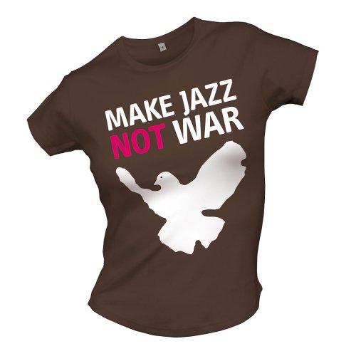 Bravado Special Interest / Jazz - Make Jazz not war 4801052 Damen Shirts/ T-Shirts, Gr. 38/40 (L), Braun (braun)