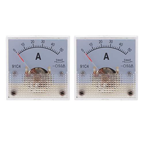 B Blesiya Amperímetro de CC, Medidor de Panel Analógico, Amperímetro Analógico Circuito Dc Mecánicos Herramientas de Diagnóstico, Test Y Medidores