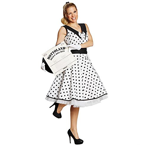 Mottoland Damen Kostüm 50er Jahre Rock'n Roll Kleid Karneval Fasching Gr.36