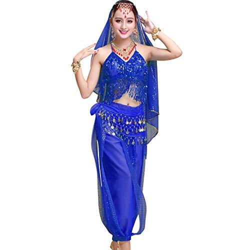 Ansemen Mujer 5 Piezas Danza del Vientre Disfraz Conjuntos Indio Danza Actuacin Vestidos Festival Carnaval Ropa