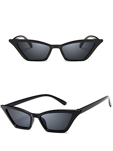 Retro Small Frame Skinny Cat Eye Sunglasses for Women Colorful Mini Narrow...