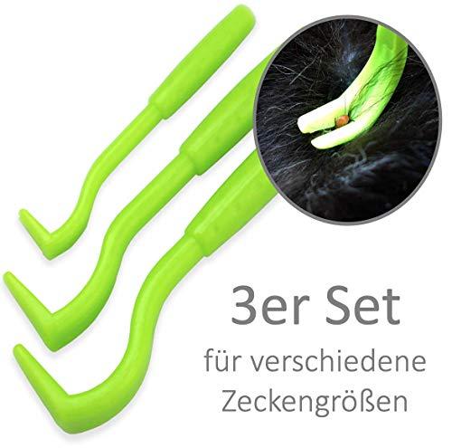 PurrCave® Zeckenhaken Zeckenzange Zeckenentferner | ohne Zerquetschungsgefahr | Anti Zeckenhebel zum Zeckenschutz für Hund Katze Pferd | Alternative zu Zeckenmittel Karte Pinzette Halsband Tabletten